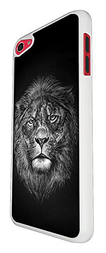 003295 - Lion Face The King Design For Apple ipod Touch 5 Fashion Trend CASE Back COVER Plastic&Thin Metal - White (King Touch Ipod 5 Lion Case)