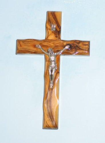 Wall Cross Crucifix Olive Wood Bethlehem Holy Land Jerusalem 5 Inches