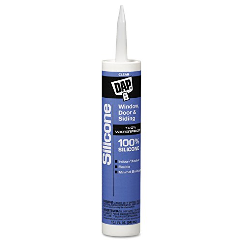 DAP 08641 Clear All-Purpose 100% Silicone Rubber Sealants, 10.1 oz., Canister (Pack of 12) (All Rubber Silicone Purpose)
