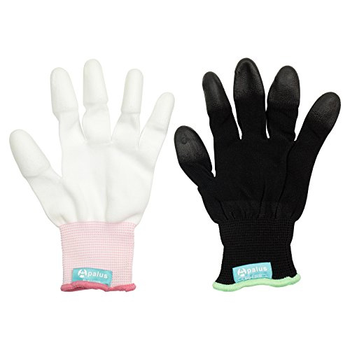 2 PCS/ Pack,Apalus Professional Heat Resistant Glove for Hair Styling Heat Blocking for Curling, Flat Iron and Curling Wand Suitable for Left and Right Hands