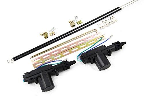 Novosonics High Power Universal Car Power Door Lock Actuator 12 Volts Motor + Actuator Bracket Cable (2 Pack) (Door Lock Actuator Bracket)