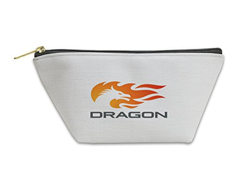 Flames Templates (Gear New Accessory Zipper Pouch, Dragon Fire Flame Logo Design Template Negative Space Style, Large, 5622367GN)