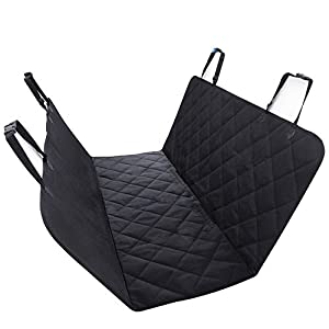 Pet Seat Cover by Ibeston, Nonslip Waterproof Back Seat Dog Seat Cover and Hammock for Car and Trucks Click on image for further info.