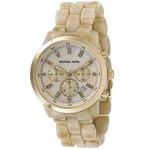 Michael Kors MK5217 - Reloj para mujer con correa de ceramica, color beige / gris