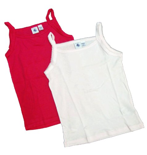 Petit Bateau 2pc Colored Undershirts-sizes: 3/12 (8, One Light Pink and One Hot - Petit Bateau Camisole