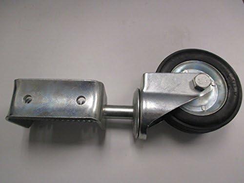 Spring-Loaded GW1-SS-BK Swivel Gate Wheels for Vinyl Gates Stainless Steel Nationwide Industries Black