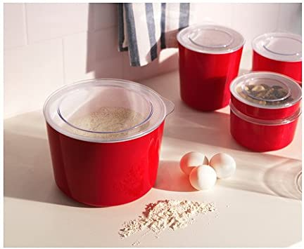 IKEA ljust - tarro con tapa, rojo, transparente - 3,9 l: Amazon.es: Hogar
