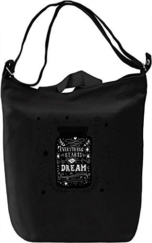 Dream Borsa Giornaliera Canvas Canvas Day Bag| 100% Premium Cotton Canvas| DTG Printing|
