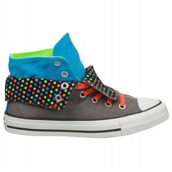Converse Chuck Taylor Two Fold Charcoal Gray High Top Sneaker Shoes
