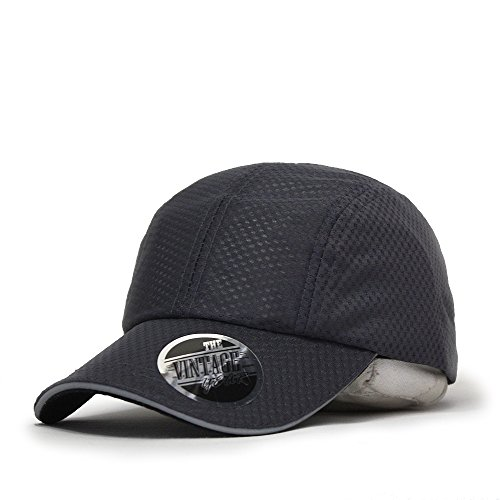 Plain Pro Cool Mesh Low Profile Adjustable Baseball Cap (Cycling Charcoal Gray)