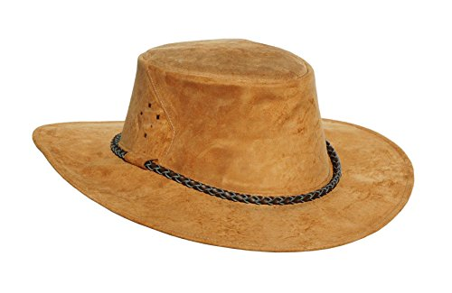 (Sale- Kakadu Australia Southern Cross Traveller Kangaroo Leather Hat Rust)