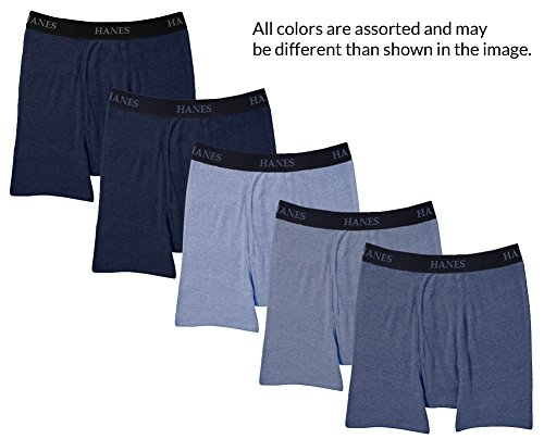 Hanes Ultimate Men's 5 Pack Boxer Brief Blue 2X Large - 2XL by Hanes Ultimate (Image #1)