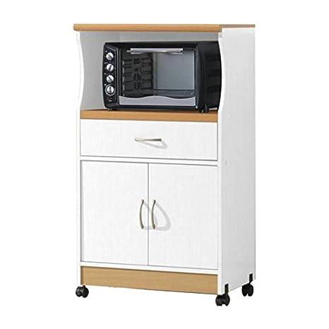 Amazon.com: Microondas carro de almacenamiento puertas cajón ...