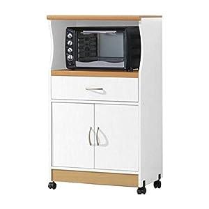 microwave cart with storage doors drawer kitchen rolling portable cabinet wood unit. Black Bedroom Furniture Sets. Home Design Ideas