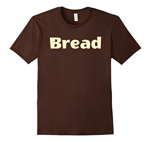 Mens Halloween Costume T-Shirts - Bread and Butter Large Brown