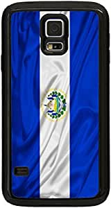 Rikki KnightTM El Salvador Flag Black Galaxy S5 Tough-It Case Cover for Galaxy S5 (Double Layer case with Silicone Protection and thick front bumper protection)