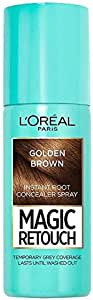 L'Oréal Paris Magic Retouch Temporary Root Concealer Spray - Golden Brown (Instant Grey Hair Coverage)