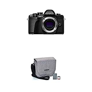 Olympus OM-D E-M10 Mark III Camera Body (Black), Wi-Fi Enabled, 4K Video with Starter Kit