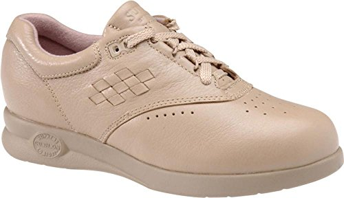 softspots Women's Supremes Marathon Walking Shoes, Taupe, 7.5 W/D-E Wide