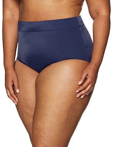 Coastal Blue Women's Plus Size Control Swimwear Bikini Bottom