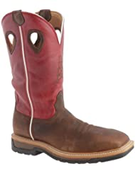 Twisted X Mens Lite Cowboy Work Boot Steel Toe - Mlcs010