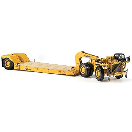 Cat 784C Tractor with Towhaul Trailer (1:50 Scale), Caterpillar Yellow ()
