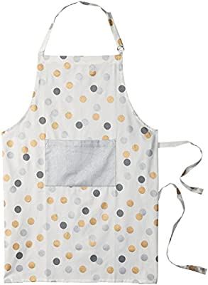 "DII 100% Cotton Cat's Meow Printed Unisex Bib Chef Kitchen Apron 28x35"" with Adjustable Neck/Waist Ties and Front Pocket, Durable Comfortable Perfect for Cooking Baking BBQ"