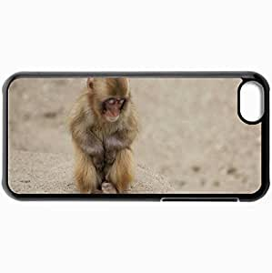 Fashion Unique Design Protective Cellphone Back Cover Case For iPhone 5C Case Baboon Baby Black