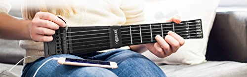 Jamstik+ Black Portable App Enabled MIDI Electric Guitar, for Beginners and Music Creators, iOS, Android & Mac Compatible, with Bluetooth Connectivity, Powered by Zivix by Zivix (Image #1)