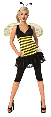 Adult Bumblebee Gloves (Morris Costumes Womens Insects Sweet As Honey Bumble Bee Adults Halloween Dress, S (4-6))