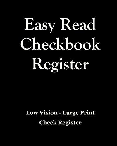 Easy Read Checkbook Register
