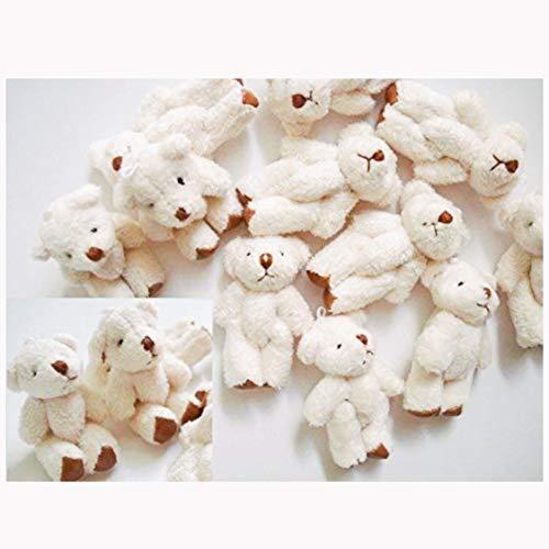 10pc Craft Mini Plush Teddy Bear Doll 4cm (H139-White) US Seller Ship Fast by www.embellishmentworld.com from www.embellishmentworld.com