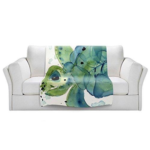 "Dia Noche Fleece Blankets Soft Fuzzy 4 Sizes! by Dawn Derman Sea Turtle - Toddler 40"" x 30"""