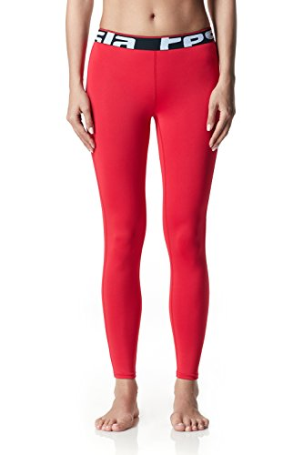 TSLA Women's Compression Baselayer Pants Casual Cool Dry Yoga Active Leggings Tights