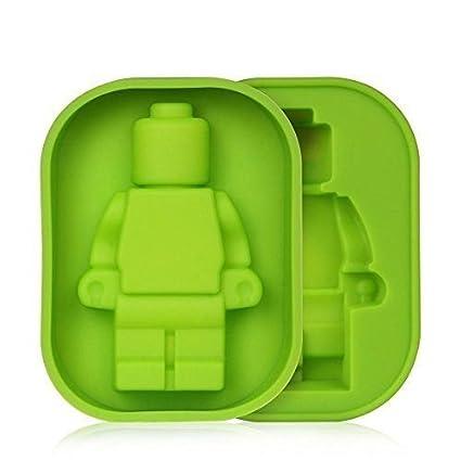 Molde de Silicona con figura grande de Lego para Fondant