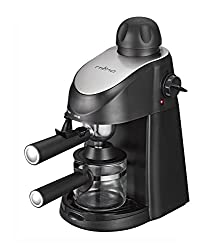 Miho CM-01A Espresso Machine 3.5 Bar Steam Cappuccino and Latte Maker Compact Design Milk Frother 4 Cups Coffee Capacity Electric 800W from Miho