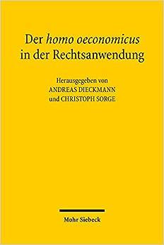 Book Der Homo Oeconomicus in Der Rechtsanwendung