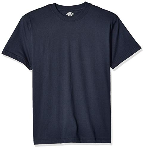 Dickies Men's Short Sleeve Heavweight Crew Neck, Dark Navy, M