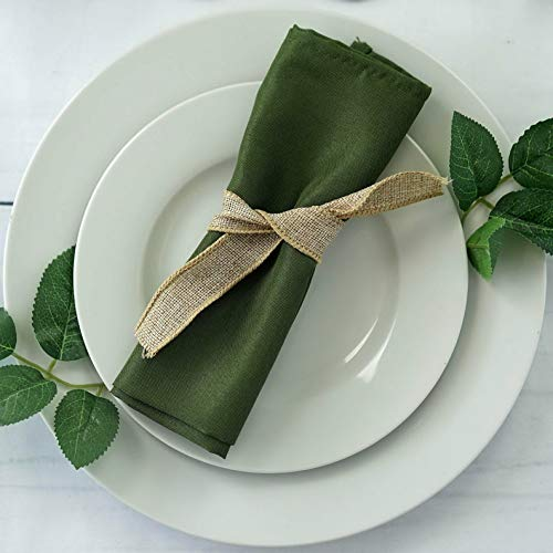 (Mikash 20 Polyester Fabric Napkins Wedding Party Dinner Kitchen Table Decorations | Model WDDNGDCRTN - 5227 | 50 pcs)