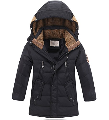 DUOCAI Boys Kids Winter Hooded Down Coat Puffer Jacket For Big Boys ()
