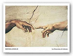 La Creazione di Adamo (La creación de Adán) Miguel Ángel