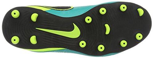 Nike Jr Tiempo Rio Iii Fg, Botas de Fútbol Unisex Bebé Verde (Clear Jade / Black-Volt)