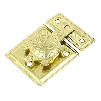 eDealMax caso de madera Tono caja cofre del encierro rápido 36x26mm de cierre del cerrojo de
