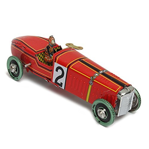 New Vintage Wind Up Racing Car Model Clockwork Tin Toy Collectible ()