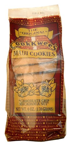Coconut Macadamia Nut Cookies - CHOCOLATE CHIP MACADAMIA NUT COOKIE 6 oz - COOK KWEE MAUI COOKIES