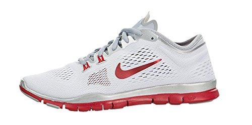 Nuovo Nike Womens Free 5.0 Tr Fit 4 Team-white / Lupo Grigio-puro Platino-sport Rosso (5,5 B (m) Us)