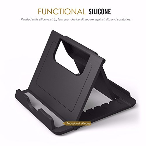 Price comparison product image Black Foldable Desk Phone Holder for iPhone 7 Plus iPad Xiaomi redmi 3 Samsung Mobile Holder Desktop Stands Hands Free GPS Racks