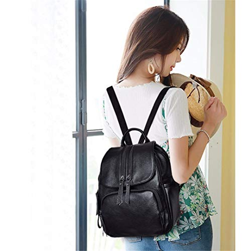 Mujer Escolares Preppy Niñas Mochila De Backpack Black Cuero Para Estilo Mochilas Vintage AztpwqF