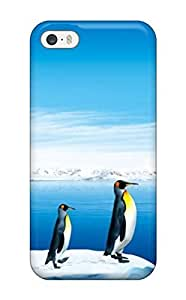 First-class Case Cover For Iphone 5/5s Dual Protection Cover Penguins Jumping Into The Pc Monitor