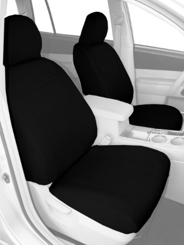 Precision Fit Covers Seat (CalTrend Front Row Bucket Custom Fit Seat Cover for Select Mazda CX-5 Models - SportsTex (Black Insert and Trim))